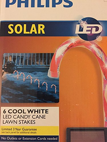Candy Cane Solar Light Stakes in US - 3