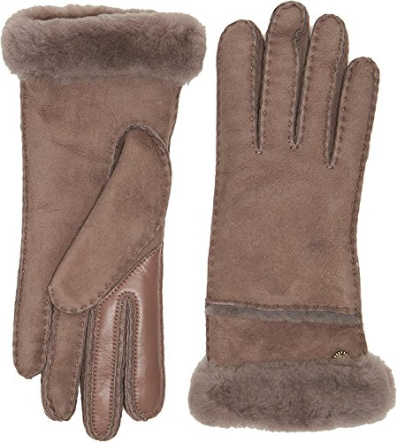 UGG Women's Exposed Waterproof Sheepskin Tech Gloves with Slim Pile Stormy Grey SM by UGG