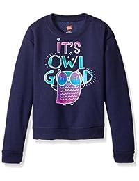 Hanes girls Big Girls Ecosmart Graphic Fleece Sweatshirt