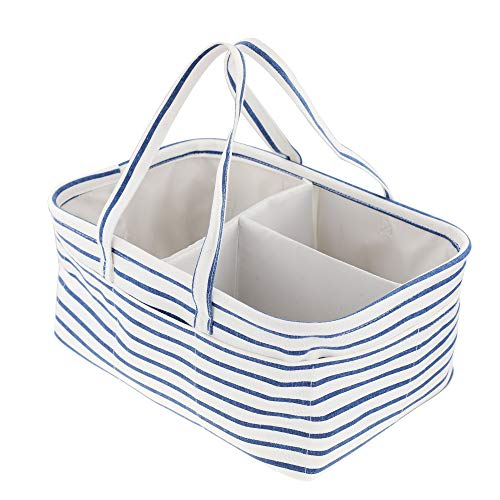 SHINYTIME Diaper Caddy Organizer - Portable Large Tote Nursery Storage Bin for Changing Table Car Travel Bag - Basket Changing For Table Hanging