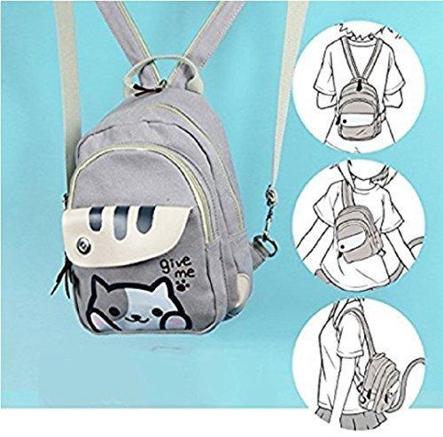 spionee Japanese Game Neko Atsum Cute Cat Anime Multifunctional Shoulder Bag, School Backpack Knapsack