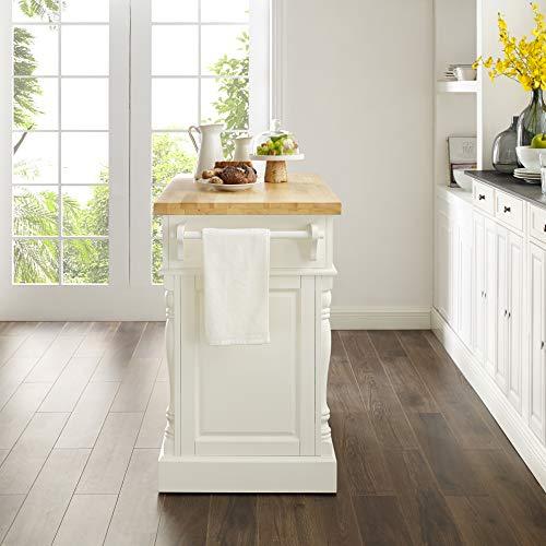 Crosley Furniture Kitchen Island with Butcher Block Top - White by Crosley Furniture (Image #6)
