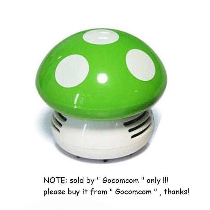 Gocomcom HONBAY Mini Cute Table Dust Vaccum Cleaner, Mushroom Shaped New Portable Corner Desk Vaccum Cleaner Mini Cute Vacuum Cleaner Dust Sweeper (Green)