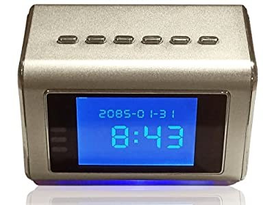 Hidden Camera Clock Radio, Mp3/mp4 Player - 16gb memory card included- Motion Activated Spy Camera for Home or Office Records Continuously 24/7 to DVR Or On Motion Detection - Saves 16 Days Covert Recording Until Overwritten by Kavcor Llc