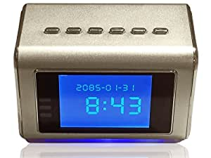 Hidden Camera Clock Radio, Mp3/mp4 Player - 16gb memory card included- Motion Activated Spy Camera for Home or Office Records Continuously 24/7 to DVR Or On Motion Detection - Saves 16 Days Covert Recording Until Overwritten