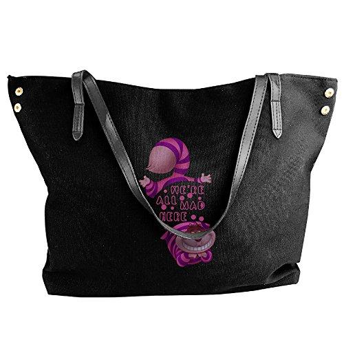 Alice In Wonderland Costume Bag (Alice In Wonderland Cheshire Cat We Canvas Bag For Women Black)