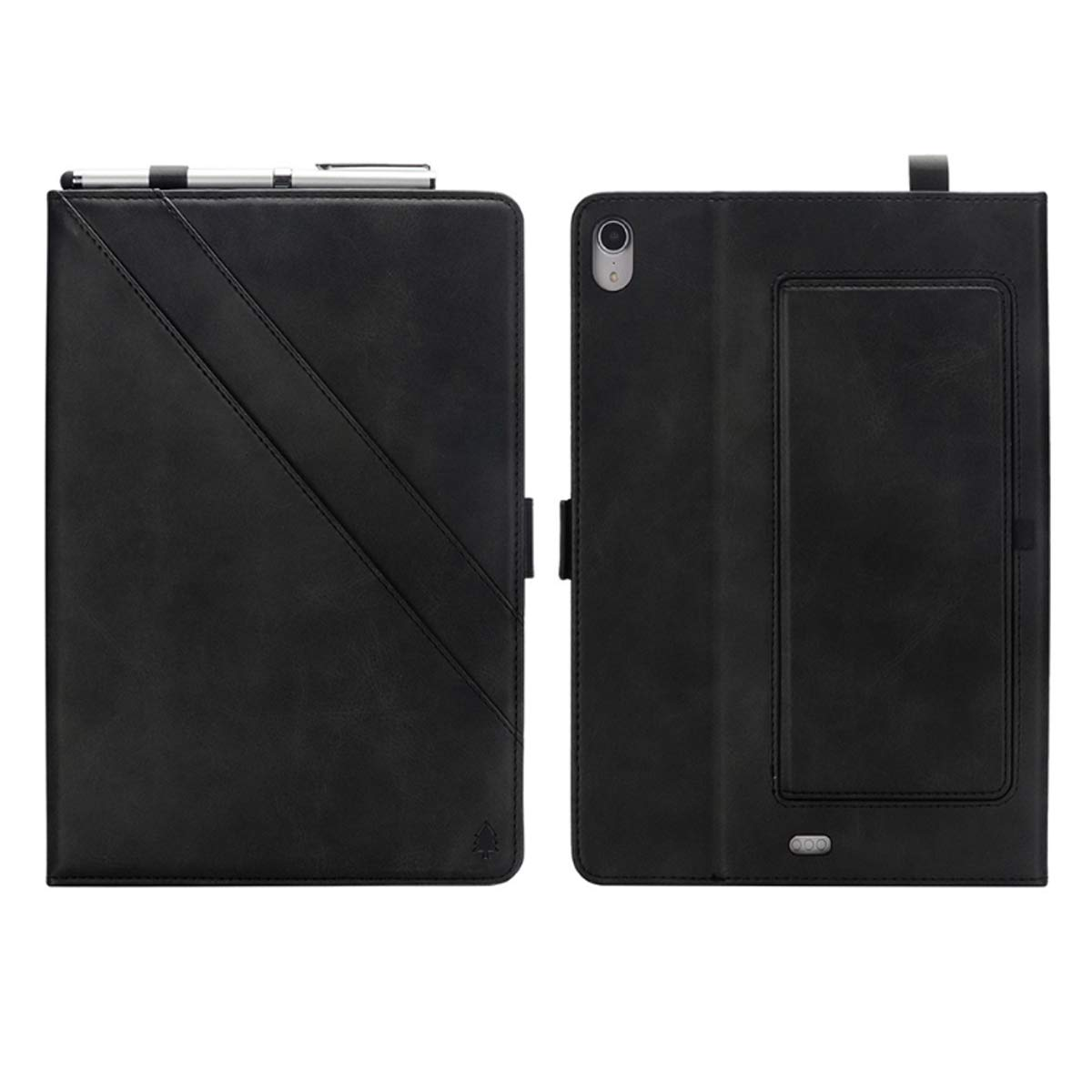 KATEGY iPad Pro 11 Inch Case with Pencil Holder, Premium PU Leather Folio Case with Apple Pencil Strap Holder and Card Slots Magnetic Smart Case Cover for iPad Pro 11 inch 2018 Release - Black by KATEGY (Image #3)
