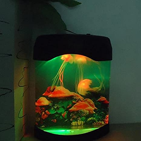 Amazon.com: Aquarium Simulation Jellyfish Background Lamp Night Light: Kitchen & Dining