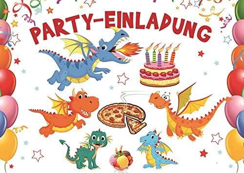 Divertido Dragón/Dinosaurios de tarjetas de invitación el ...