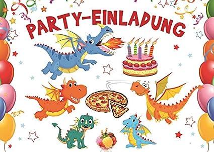10 De Unidades divertido Dragón de tarjetas de invitación ...