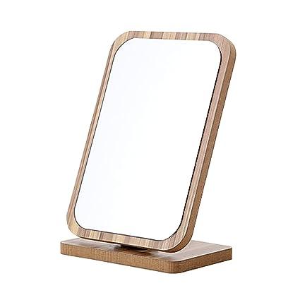 a0c39cc6a8fb GLODEALS Wood Square Desktop Makeup Cosmetic Item Graining ...
