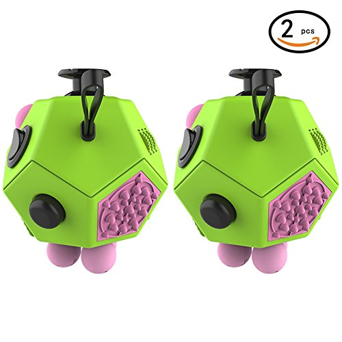 Magic Cindy 2 Pcs of 12 Sided Fidget Cube Relieves Stress...