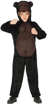 NET TOYS Divertido Disfraz de Gorila para niño - Negro-marrón 7 ...