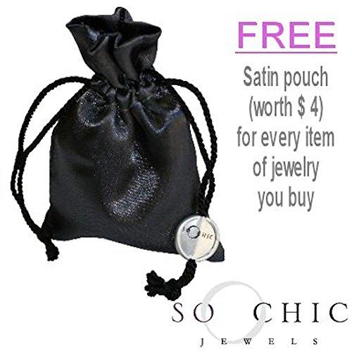 So Chic Jewels 925 Sterling Silver Ying Yang Yin Yang Moon Sun Stud Earrings