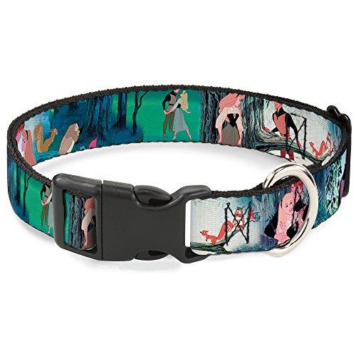 Buckle-Down Sleeping Beauty Woods Scenes Disney Breakaway Plastic Clip Collar, - Scene Buckle