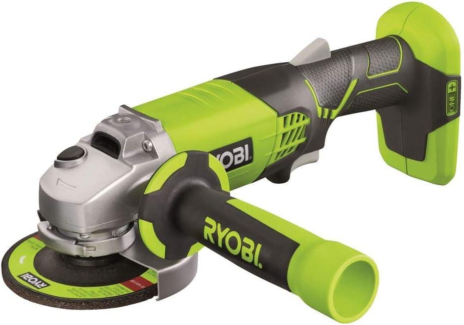 Ryobi R180AG-0 - Amoladora angular (7500 RPM, Negro, Verde ...