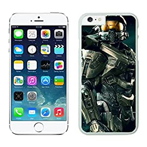 NEW DIY Unique Designed Case For Iphone 6 Master Chief Halo iphone 6 White 4.7 TPU inch Phone Case 275