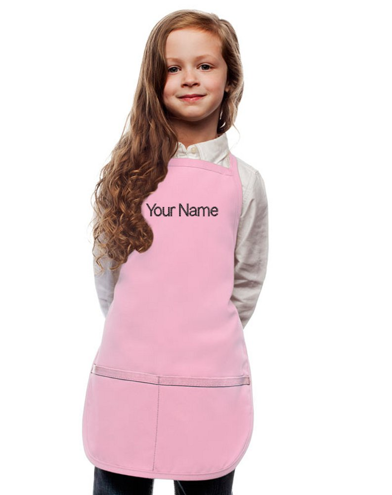 My Little Doc Personalized Pink Kids Apron, Poly/Cotton Twill Fabric (Regular)