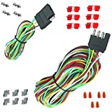 7 pin trailer pigtail - 25' 4 Way Trailer Wiring Connection Kit Flat Wire Extension Harness Boat Car RV