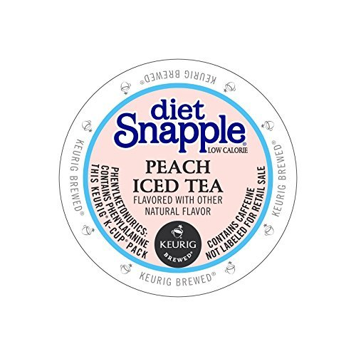 Snapple Diet Peach Iced Tea Kcups 88ct by Snapple