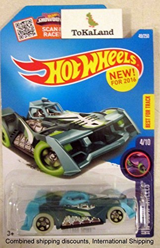 Hot Wheels 2016 Glow Wheels Voltage Spike Teal Aqua Blue 49/250