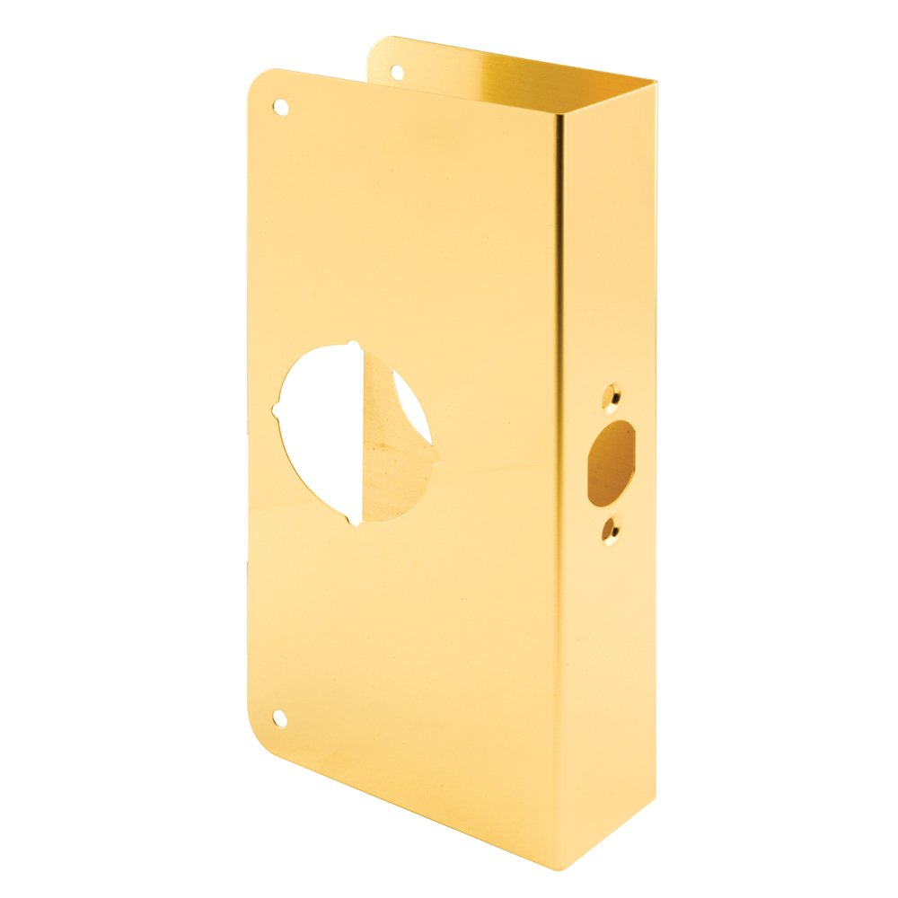 Defender Security U 9550 Door Reinforcer 1-3/4-Inch Thick by 2-3/4-Inch Backset 2-1/8-Inch Bore, Brass, Non-Recessed