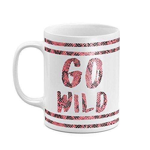 Go Wild & Free Red Rattlesnake Skin Lines Wildlife Animal Lizard Pattern White Heat Resistant Ceramic Tea Coffee Mug - (Bowl Stoneware Lizard)