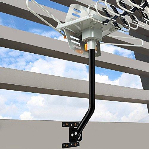 Vansky Adjustable Attic Antenna Mount - Outdoor TV Antenna Mounting Pole Universal Mount Brackets - Easy Installation, Solid Structure, Weather Proof