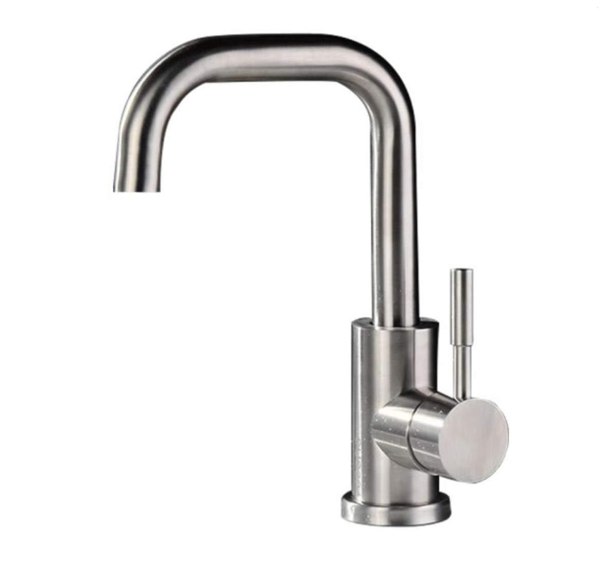 Mucert 304 Edelstahl, Waschbecken Wasserhahn, Heißes Und Kaltes Wasser Kann Gedreht Werden, Waschbecken Wasserhahn.