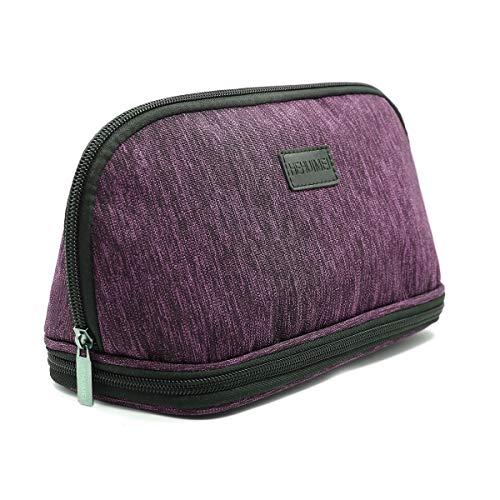 HEHUIMEI Portable Makeup Bag Cosmetic Bag Organizer Makeup Case for Women Makeup Pouch Travel Purse Handbag Makeup Travel Kit With Zipper Multifunction Organizer Toiletry Case Storage Bags(Red)