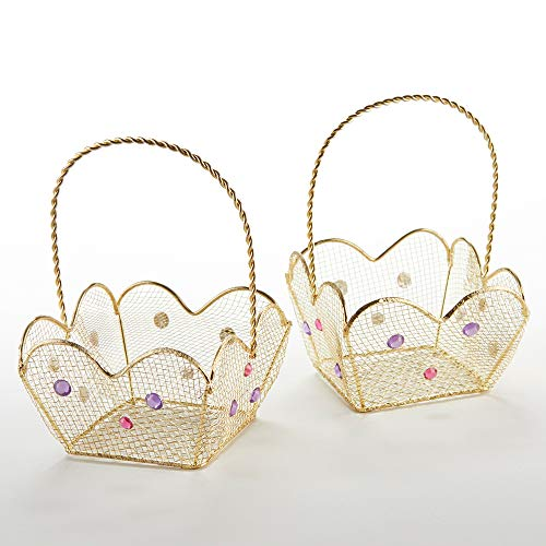 Kate Aspen 14136NA Indian Jewel Gold Wire (Set of 6) Favor Basket ()