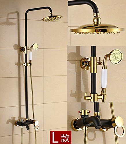 ZQ@QXContinental Cu all antique European-style shower Kit,L)