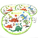 KathShop Dinosaur Disposable Paper Plate Dinosaur Theme Birthday Party Supplies Dinosaur Paper Plates