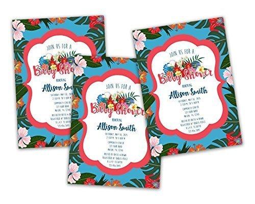 Amazon tropical baby shower invitations luau hawaiian girl tropical baby shower invitations luau hawaiian girl summer filmwisefo