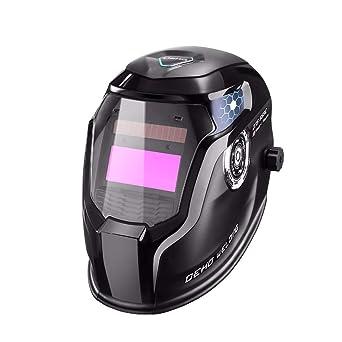 DEKO Casco de soldadura solar de intensidad regulable con amplio rango de sombreado. Máscara de