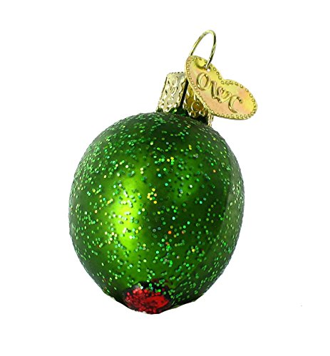 - Old World Christmas Ornaments: Stuffed Green Olive Glass Blown Ornaments for Christmas Tree