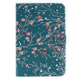 Bear Village iPad Mini 4 Case, Anti Scratch Shell with Adjust Stand, Colorful Design Leather Stand Case for Apple iPad Mini 4, Flower