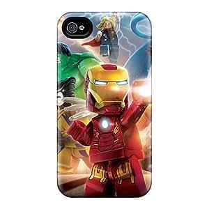 LauraAdamicska Iphone 4/4s Anti-Scratch Hard Phone Cases Custom High-definition The Lego Movie Pattern [qfL17029jOnI]