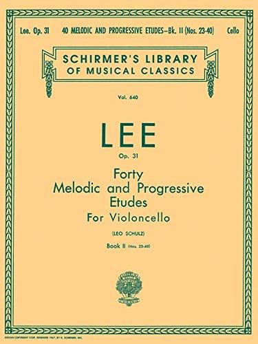 40 Melodic and Progressive Etudes, Op. 31 - Book 2: Cello Method