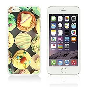 OnlineBestDigitalTM - Funny Pattern Hardback Case for Apple iPhone 6 Plus (5.5 inch) Smartphone - Cup Cake