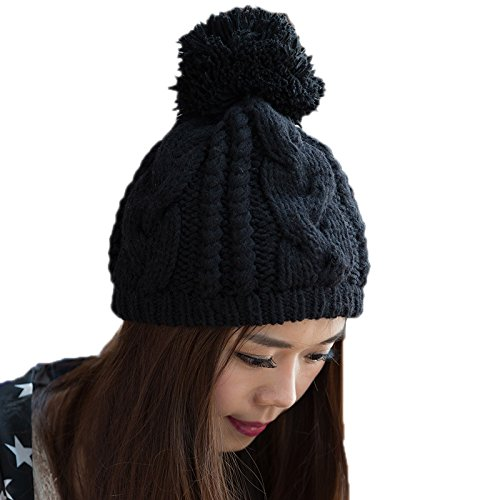 de señoras Sombrero Lana Moda Maozi Sombrero 1 a Punto 1 del Invierno Bromista Sombrero de Las Coreano Coreana Punto de qnZ8n4v