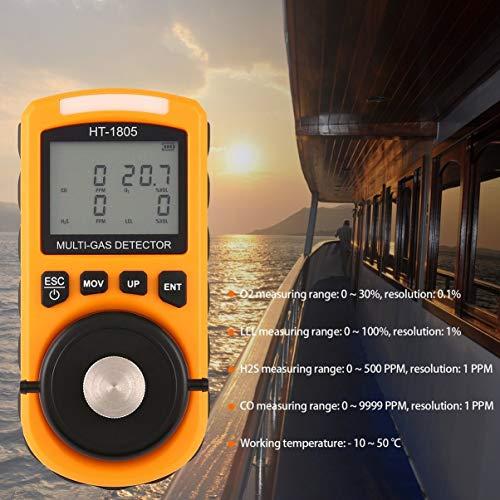 4 en 1 O2 H2S Co Lel Detector de Gas Combustible Bomba de oxígeno Sampler de Gas monóxido de Carbono analizador de Gas Monitor Detector de Fugas de Gas: ...