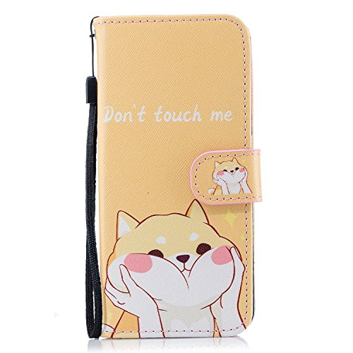 Galaxy S9 - Case, For [S9], MerKuyom [Wrist Strap] [Kickstand] Premium PU Leather Wallet Pouch [Card Holder] Protective Flip Cover Case For Samsung Galaxy S9, W/Stylus (Yellow Naughty Cat)