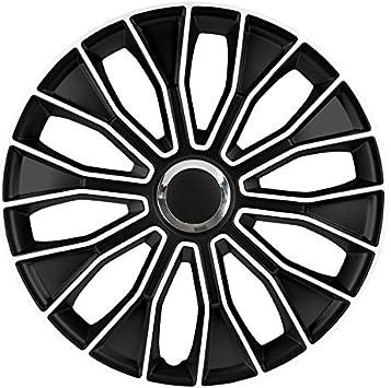 Radkappen Voltec pro Black white 14 SCHWARZ WEI/ß 14 Zoll Radzierblenden