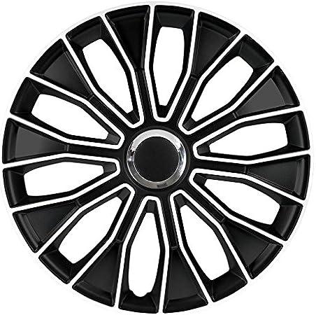14 Zoll Radzierblenden Radkappen Voltec Pro Black White 14 Schwarz Weiß Auto