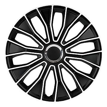 C&D Voltec Pro - Tapacubos (16 pulgadas, color blanco y negro)