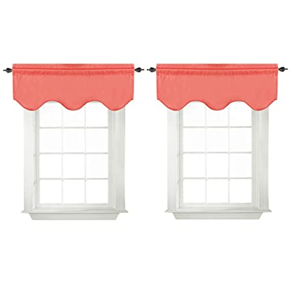 Turquoize Valances Curtains For Kitchen Windows Room Darkening Window  Valances For Living Room/Bedroom Rod