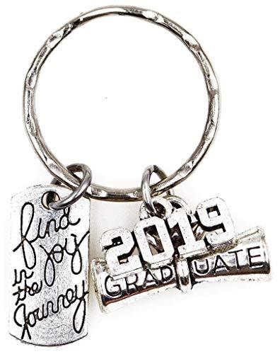 Find Joy in The Journey 2019 Graduate Scroll Keychain 105C