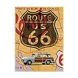 Trademark Fine Art Route 66 Vintage Postcard by Edward M. Fieldin, 35x47