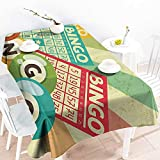 Homrkey Easy Care Tablecloth Vintage Decor Quote with Radiant Tone Futuristic Spaceship Rocket Moon Cosmos Humor Artwork Multi and Durable W52 xL70
